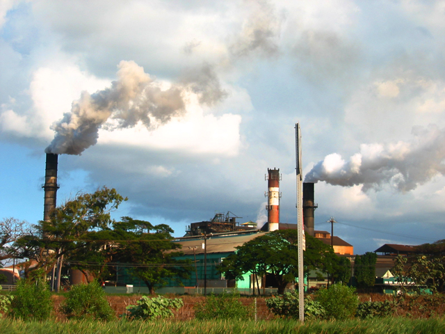 The HC&S sugar mill in Puunene.