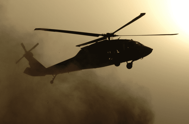 U.S. Army helicopter in Iraq