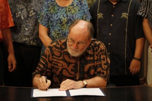 Governor Hosts Bill-Signing Party: Police Misconduct, Energy Management Top List