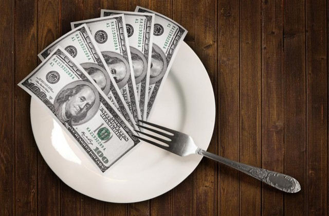 Dollars on a plate