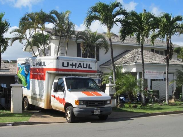 Kawamoto Kahala house moving van