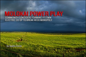Molokai Considers Forming Electric Co-Op to Break HECO Monopoly