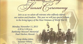 Veterans Day Ceremony for Japanese-American Soldiers of World War II