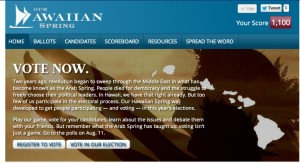 Our Hawaiian Spring: New Facebook Voting Game Aims To Boost Turnout