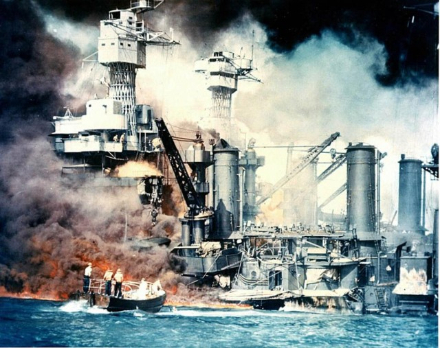 The Pearl Harbor attack launched the U.S. into World War II and resulted in martial law in Hawaii.
