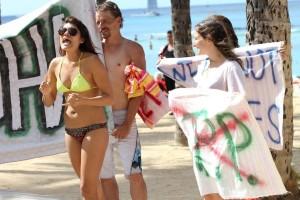 Only in Hawaii — Bikini Protest
