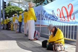VIDEO — APEC 2011 Hawaii  — Falun Gong Protest