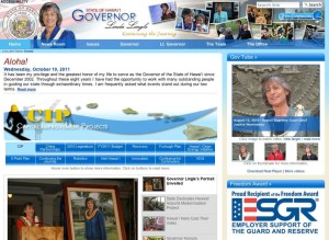 Lingle's Official Website As Hawaii Gov Hard To Find