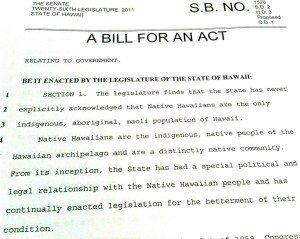 Hawaii Version of Akaka Bill Still Alive