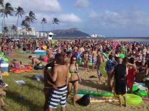 Cops Crash Magic Island Spring Break Party