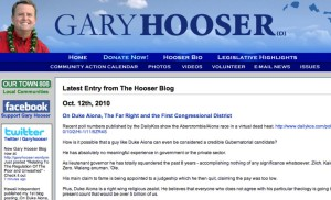 Hooser: Aiona a 'Right Wing Religious Zealot'