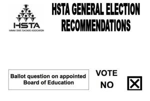 "HSTA to Teachers: ""NO"""