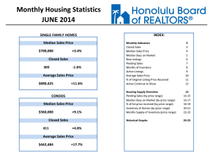 Honolulu Median Home Price Reaches a Record $700,000