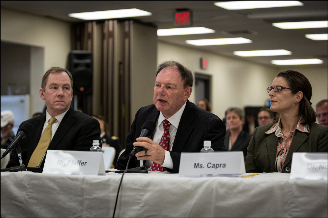 The director of the VA Pacific Islands Health Care System, Wayne Pfeffer, center, testified of recent improvements. President Barack Obama recently signed a bill that allows the VA to spend $16.3 billion to hire doctors and address the patient overload.