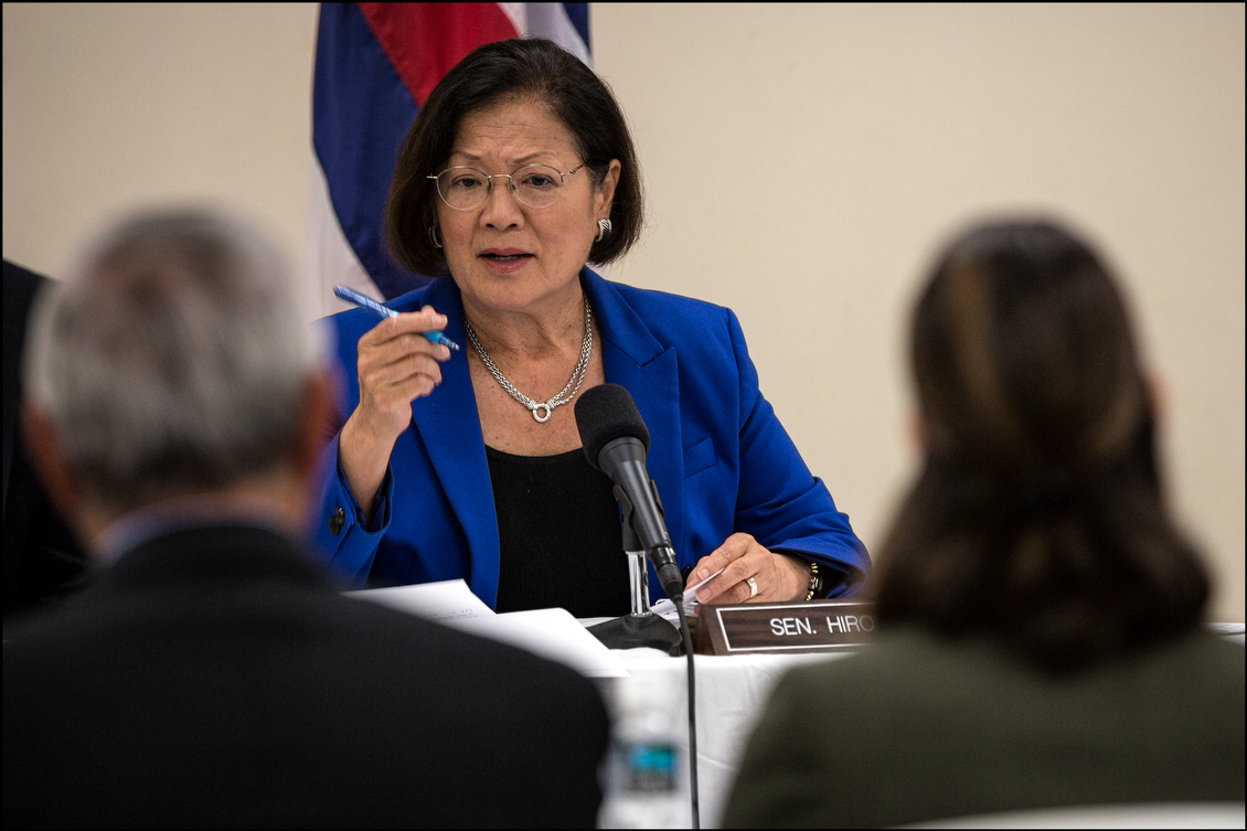 Sen. Hirono highlighted the importance of improved communications at the VA and suggested to Pfeffer that he continue to listen to vets when they talk about the difficulties they face going forward.