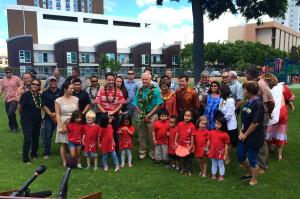 Honolulu Mayor Celebrates Renovated Kakaako Park