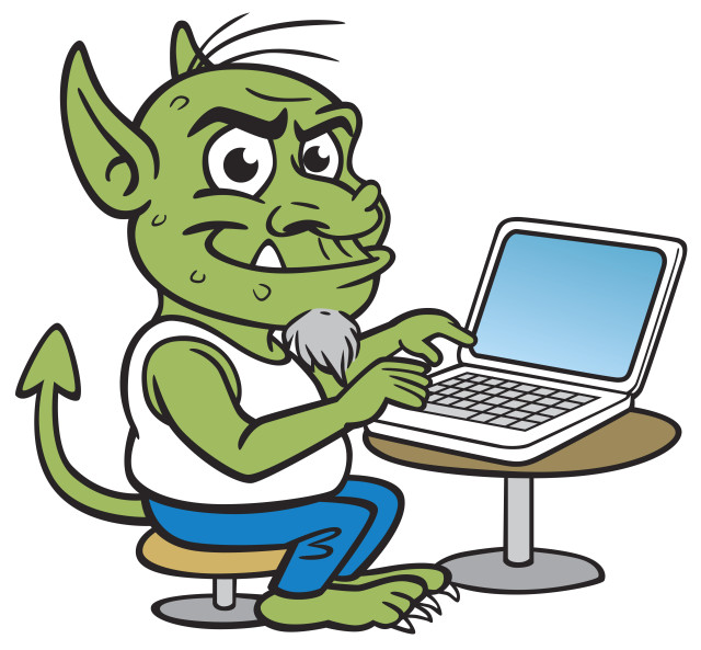 Internet troll illustration