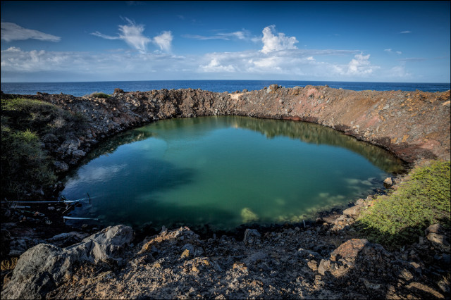 Sailor's Hat on Kahoolawe where the Navy dropped a 500lb TNT bomb to simulate the effects of an atomic blast.9.30.14
