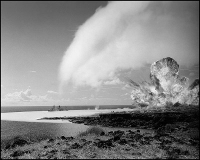 TNT detonation on Kahoolawe Island during Operation Sailoir Hat. 1965.