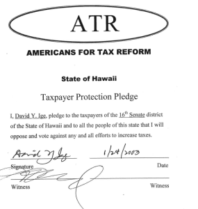 A Campaign Tale of Taxes — and Pledges — Hawaii Style