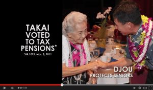 Djou, PAC: Mark Takai 'Voted for a Pension Tax'