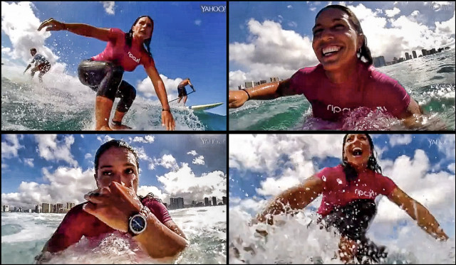 Tulsi 4-up surfing with watch 8.19.14