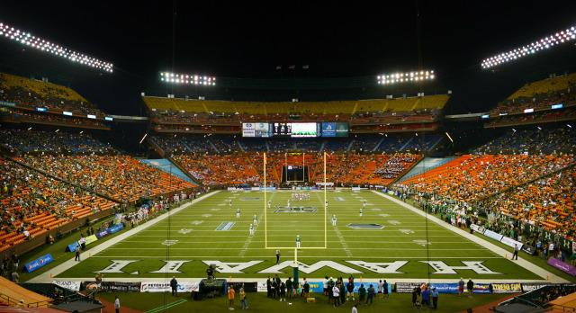File photograph of UH vs UNLV at Aloha Stadium.. ALOHA STADIUM, HONOLULU, HAWAII. photo CORY LUM/ CIVIL BEAT