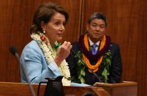 Pelosi Welcomes Takai to Congress, Island-Style