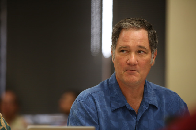 Hawaii Council on Revenues member Carl Bonham at Hawaii Council on Revenues Meeting to Forecast general fund revenues held at DLIR conference rooms, Princess Ruth Keelikolani Building, 830 Punchbowl Street, 3rd floor. 6 jan 2015. photograph Cory Lum
