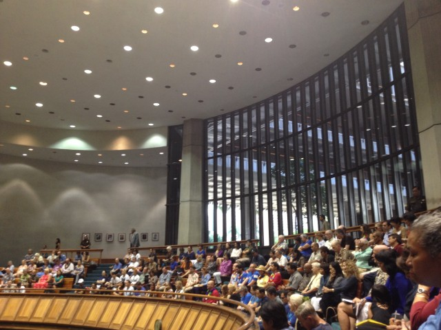 A packed Senate chamber at the Hawaii Legislature.
