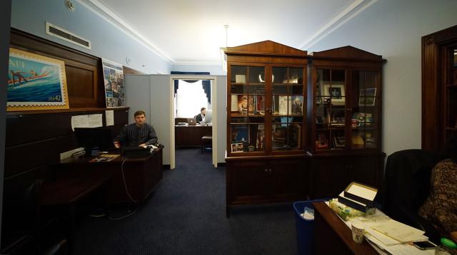 Entrance area into Representative Tulsi Gabbard office. washington DC. 24 feb 2015. photograph Cory Lum/Civil Beat