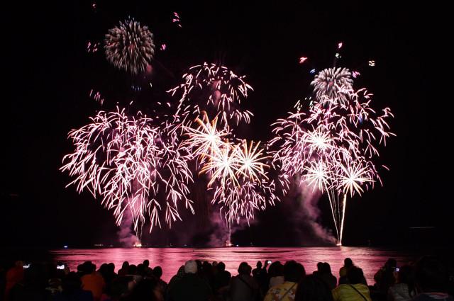 Annual Honolulu Festival featured the Nagaoka Fireworks Show originating from Niigata Prefecture on the Japan Sea Coast of Japan. 8 march 2015. photograph Cory Lum/Civil Beat