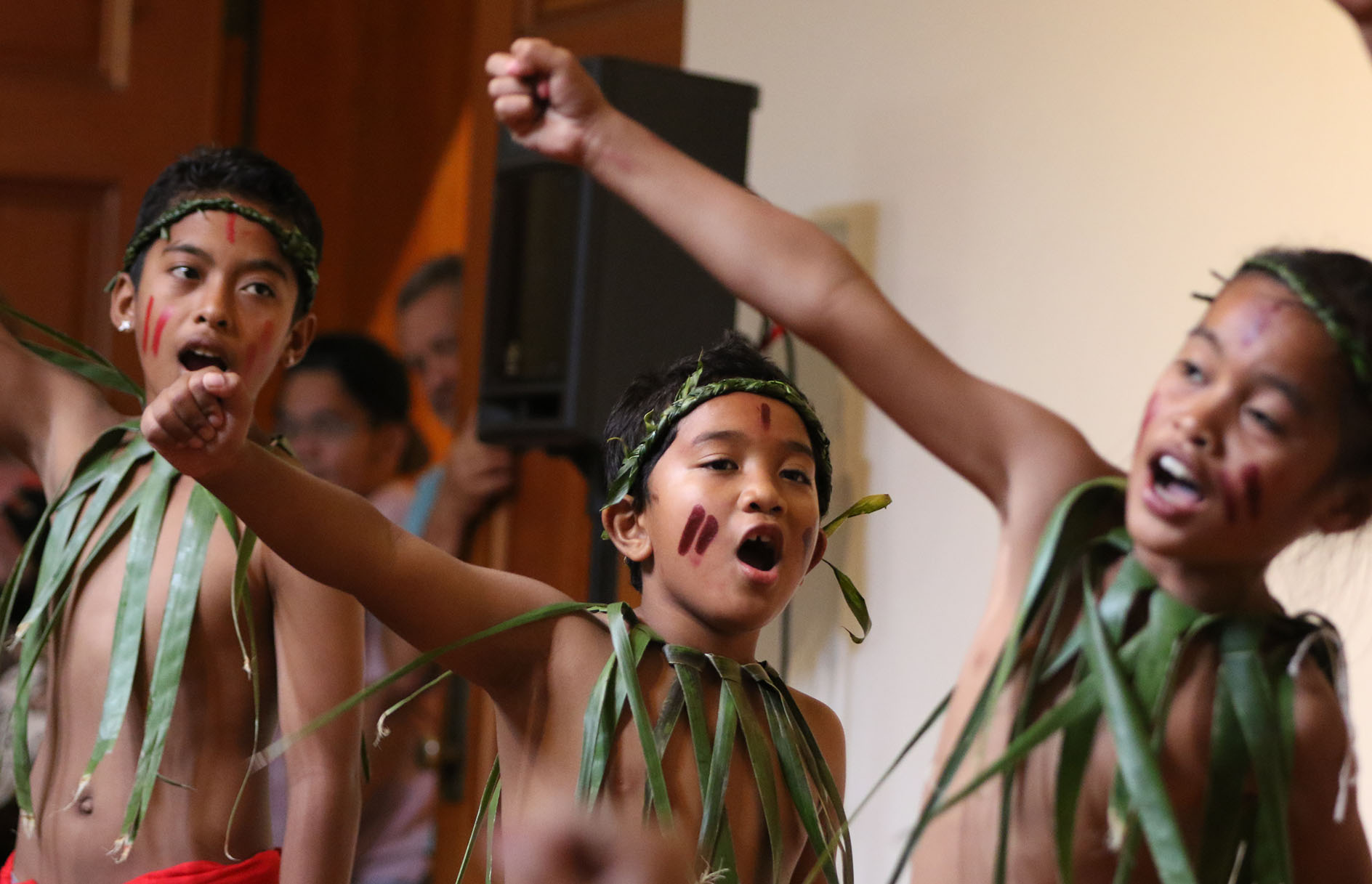 """<p>Young dancers from the Pacific Voices group performed at the """"Celebrate Micronesia"""" event at the Honolulu Museum of Art School in March, which celebrated the broad diversity of Micronesian cultures.</p>"""