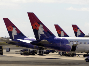 Flames Come From Hawaiian Airlines Plane Landing In Seattle
