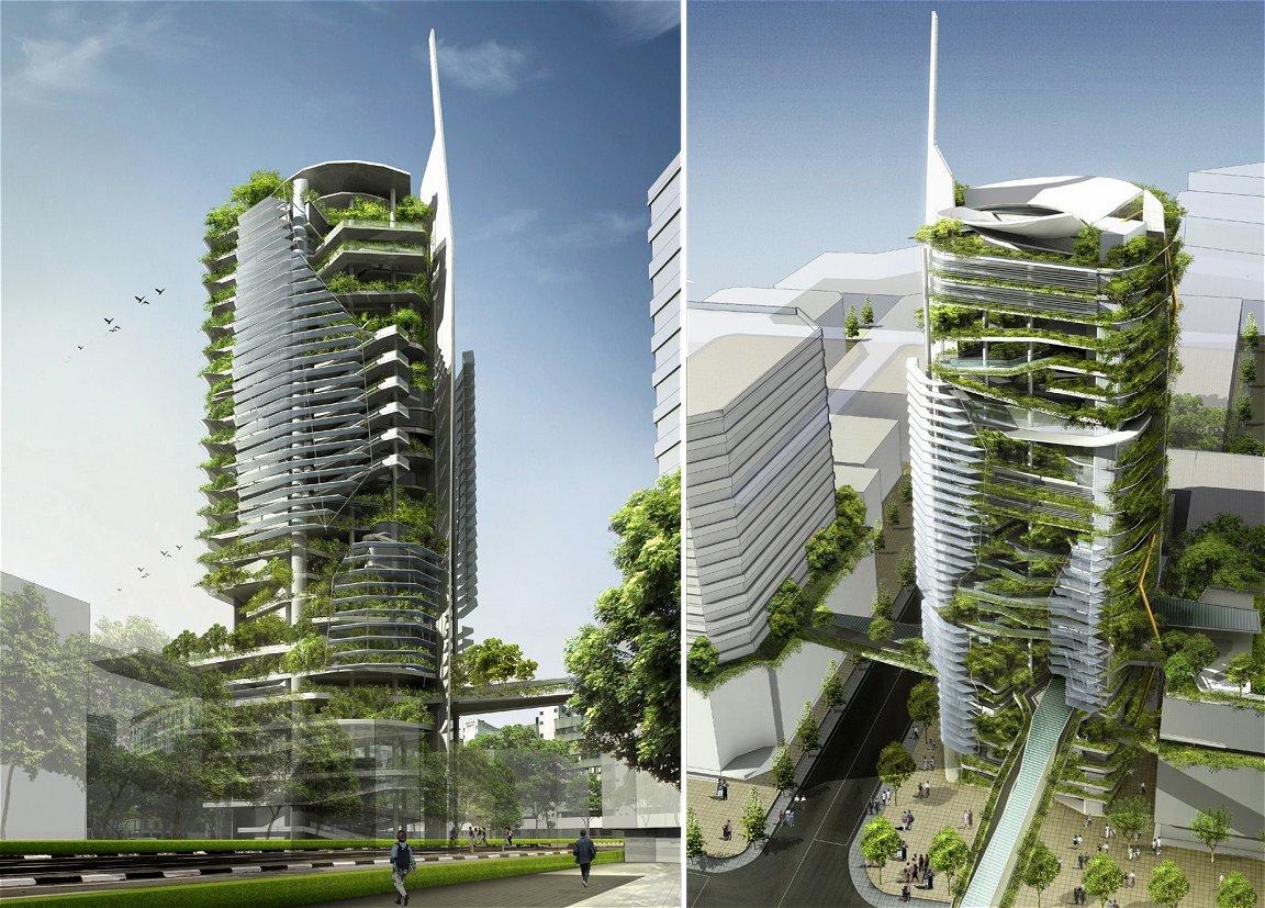 EDITT Tower (unbuilt), architect Ken Yeang.