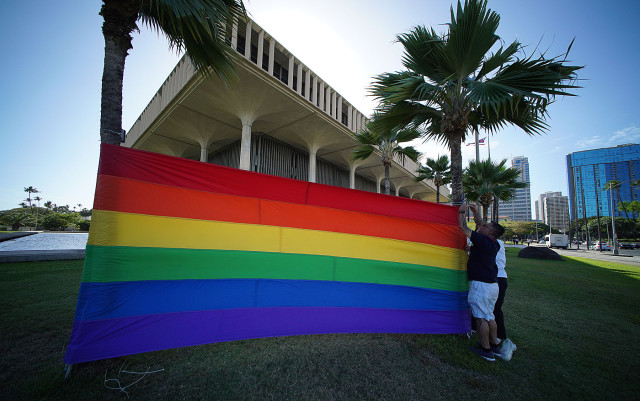 GLBT rainbow. 27 april 2015. photograph Cory Lum/Civil Beat
