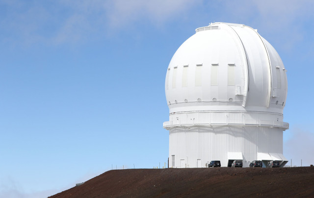 Telescope on the summit of Mauna Kea. 9 april 2015. photograph Cory Lum/Civil Beat