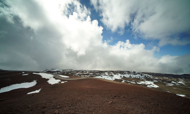 Wide view of TMT work site on the summit of Mauna Kea. 9 april 2015. photograph Cory Lum/Civil Beat