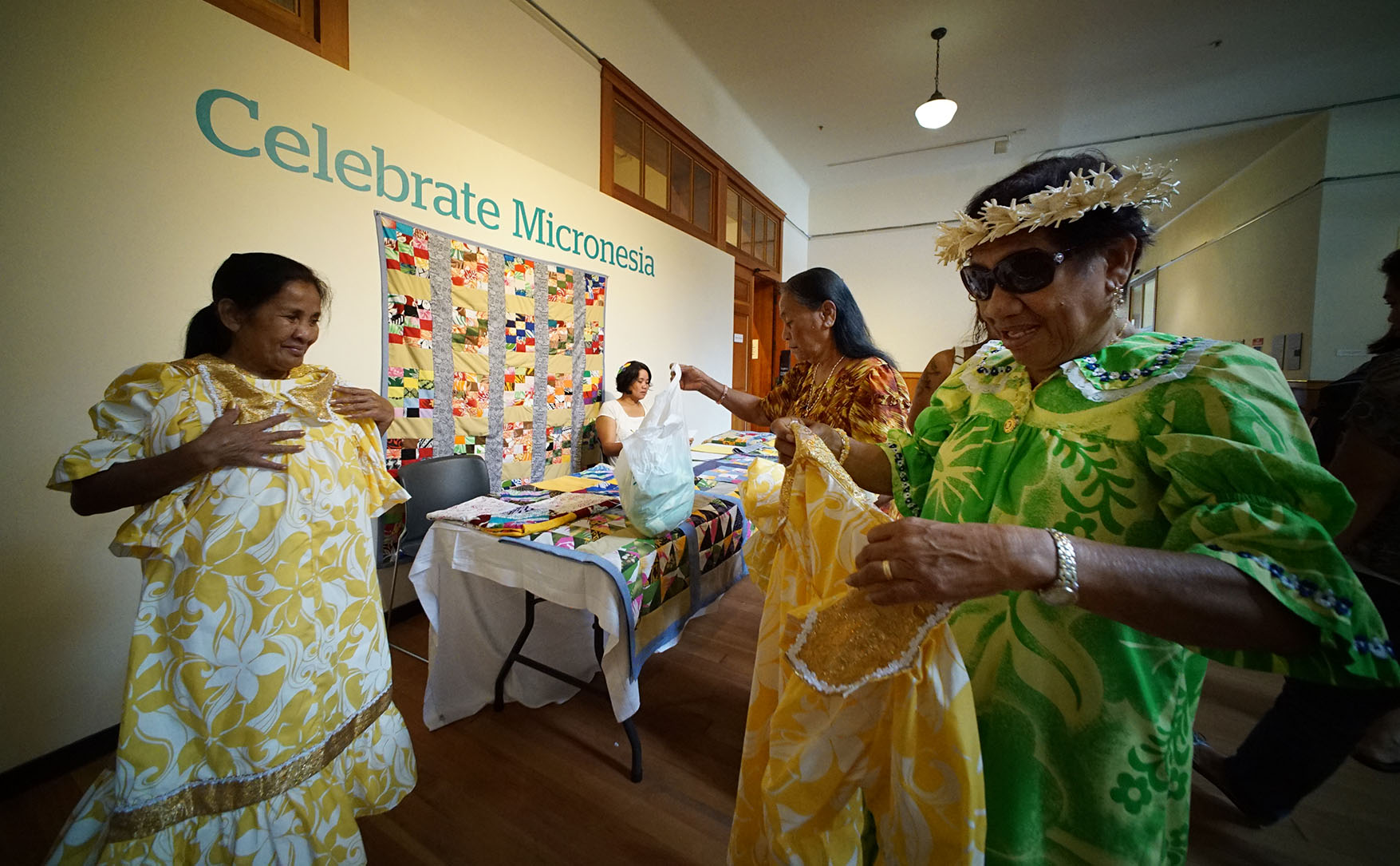 <p>Marshallese women make up the Lale Dron Dance Group.</p>