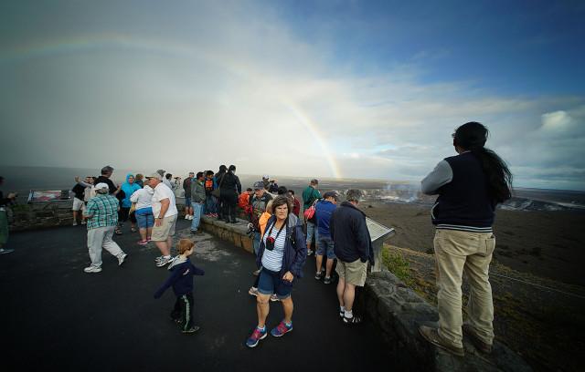 Halemaumau crater. 3 may 2015. photograph Cory Lum/Civil Beat