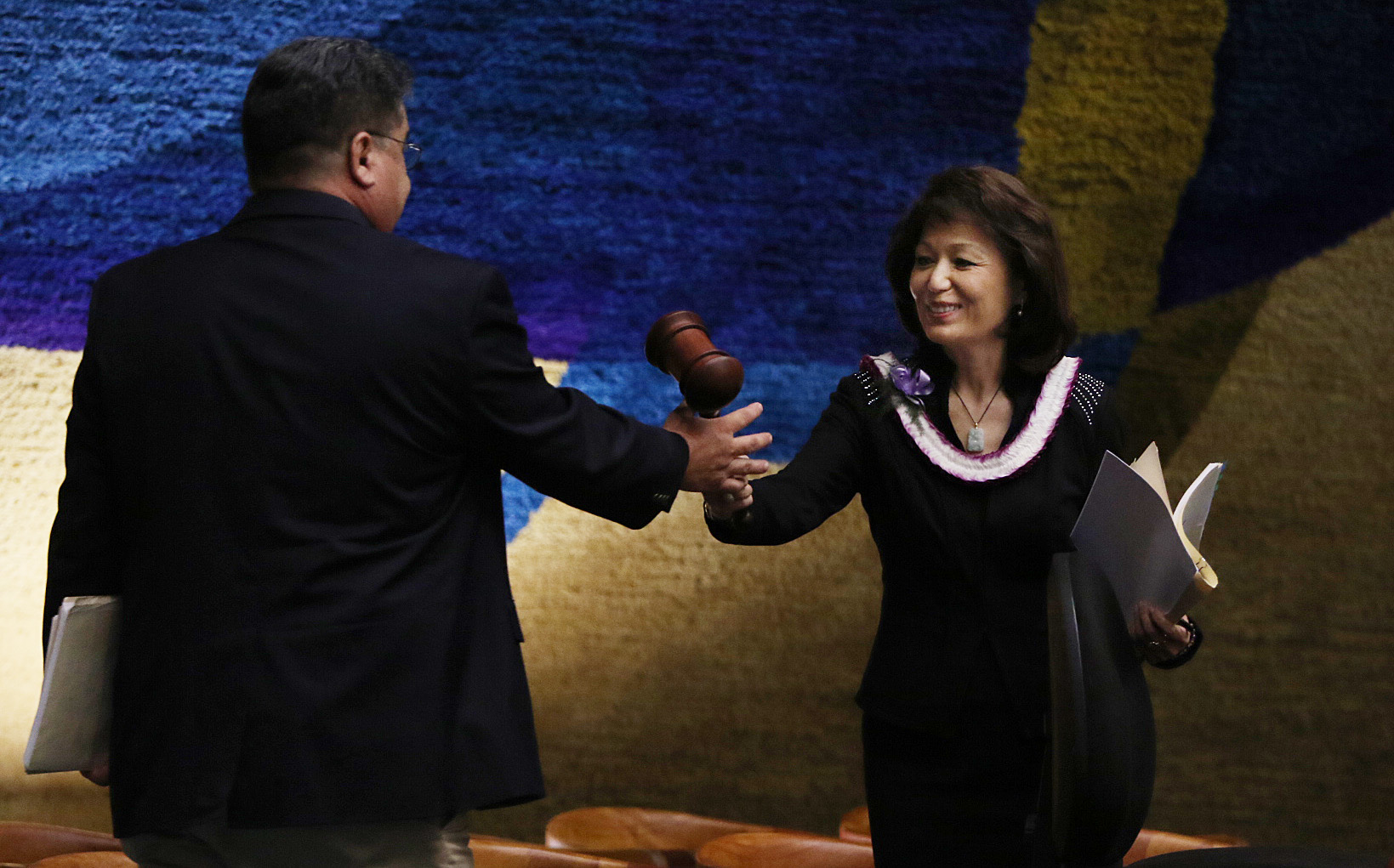 <p>Days later, Donna Kim herself is ousted as Senate president in a coup just before the end of the legislative session. She hands the gavel to the new president, Sen. Ron Kouchi of Kauai. The shakeup also affects the Senate's committee alignment and results in several chairmanships changing hands.</p>