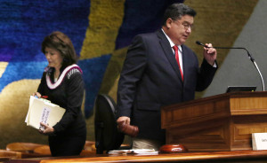 End of Session Shakeup: Kim Out, Kouchi In as Senate President