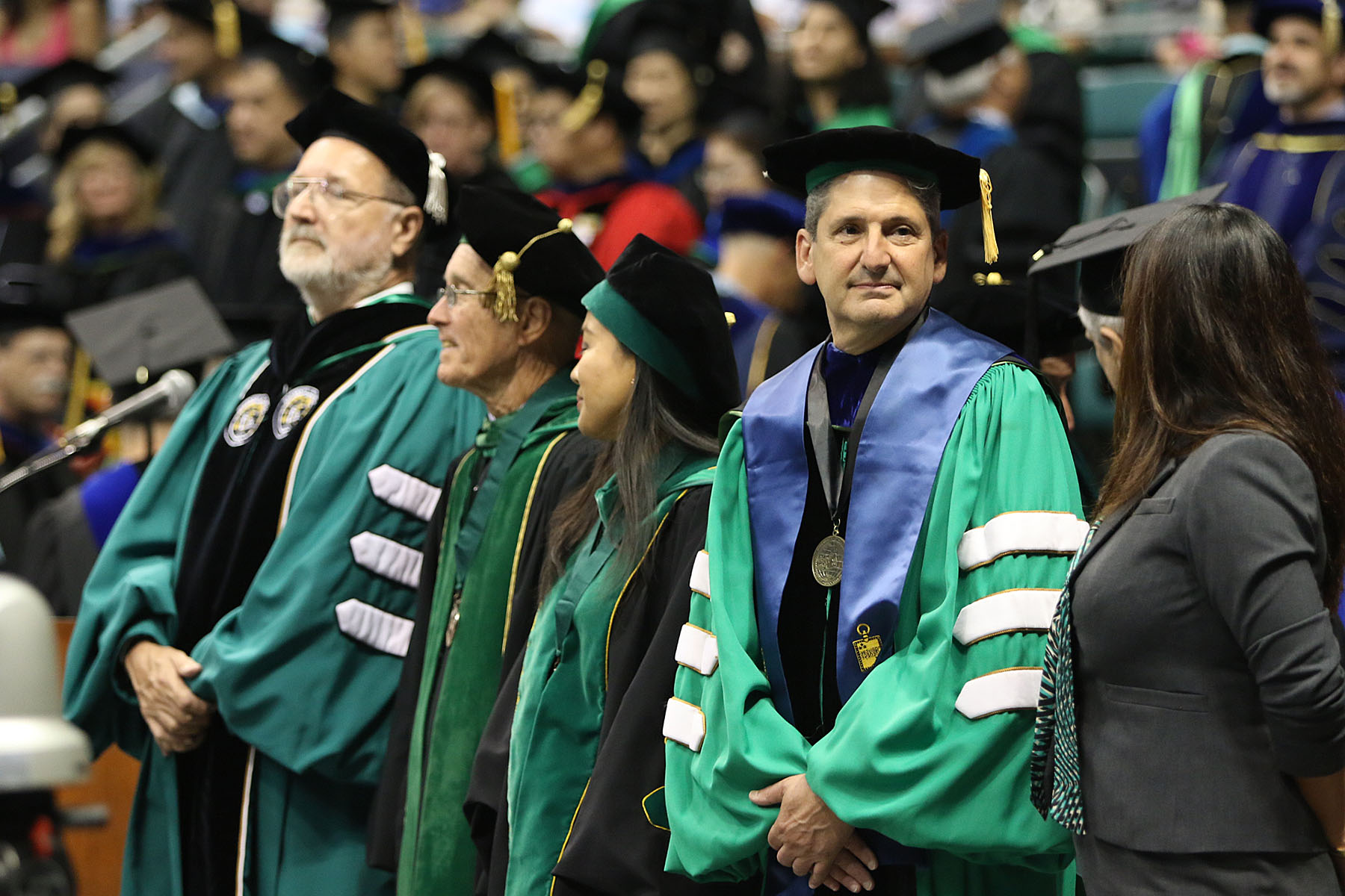 University of Hawaii President David Lassner during undergrad commencement. 16 may 2015. photograph by Cory Lum/Civil Beat