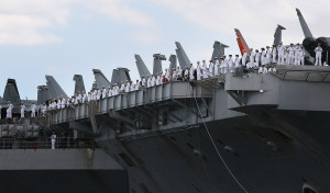 The Projector: Honors for the Fallen, Greetings for a Carrier Crew