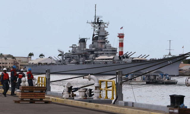 USS Missouri 27 may 2015. photograph by Cory Lum/Civil Beat