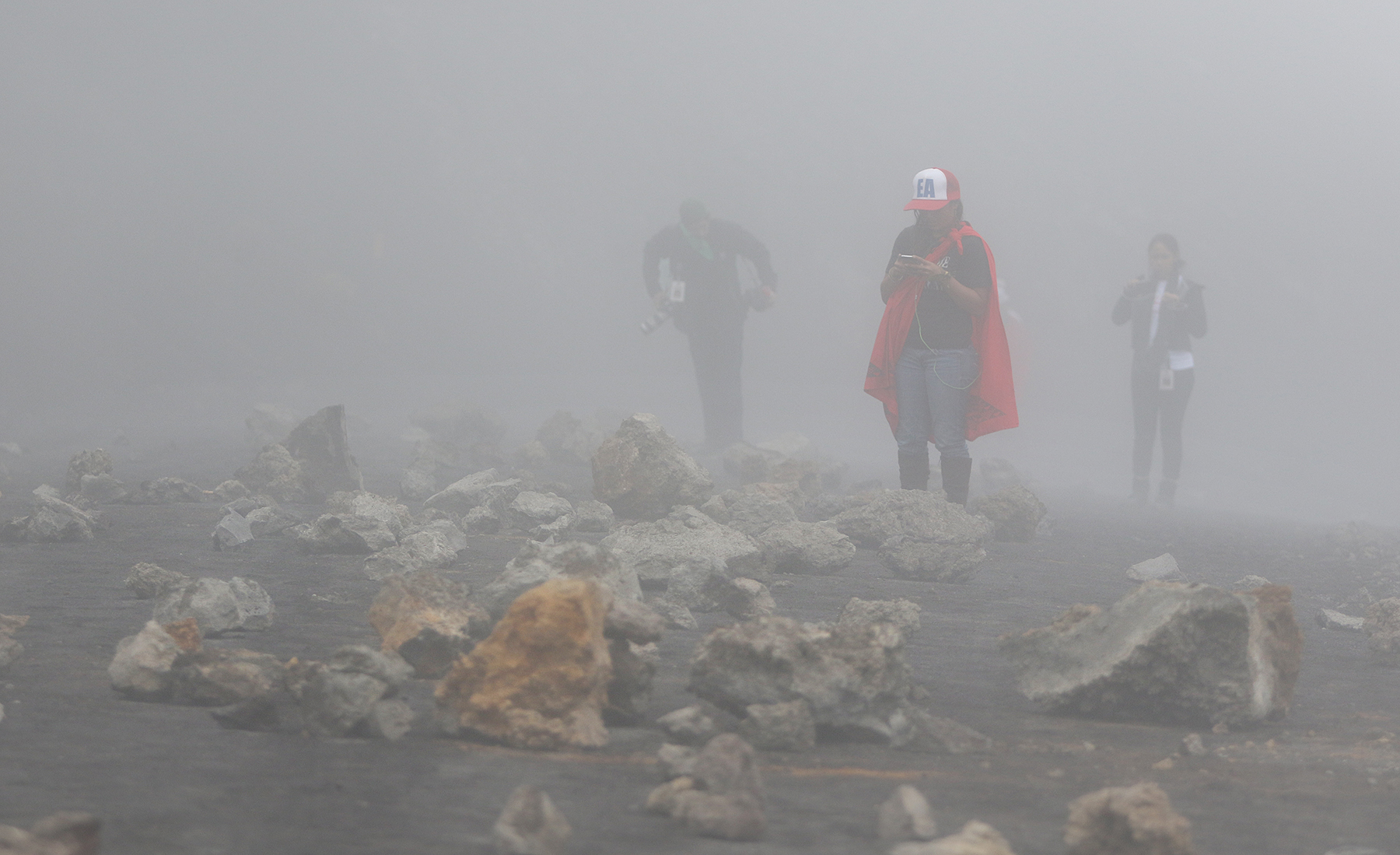 <p>When a TMT caravan again attempts to reach the Manua Kea construction site in June, scores of stones are strewn near a hairpin turn along an access road. The TMT workers once more abandon their efforts to reach the site.</p>