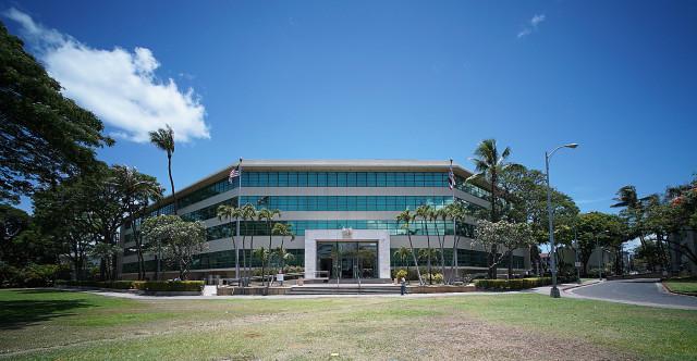 Queen Liliuokalani Building. Board of Education offices. 16 june 2015. photograph Cory Lum/Civil Beat