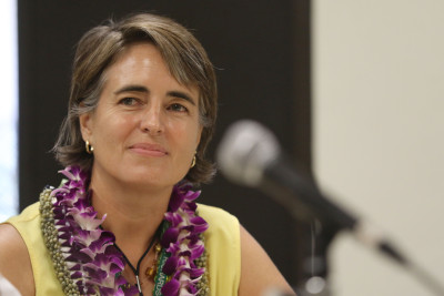 UH Law school Associate Dean Denise Antolini during press conference. Environmental law. 26 june 2015. photograph Cory Lum/Civil Beat