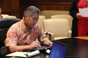 Governor's Office Goes Paperless