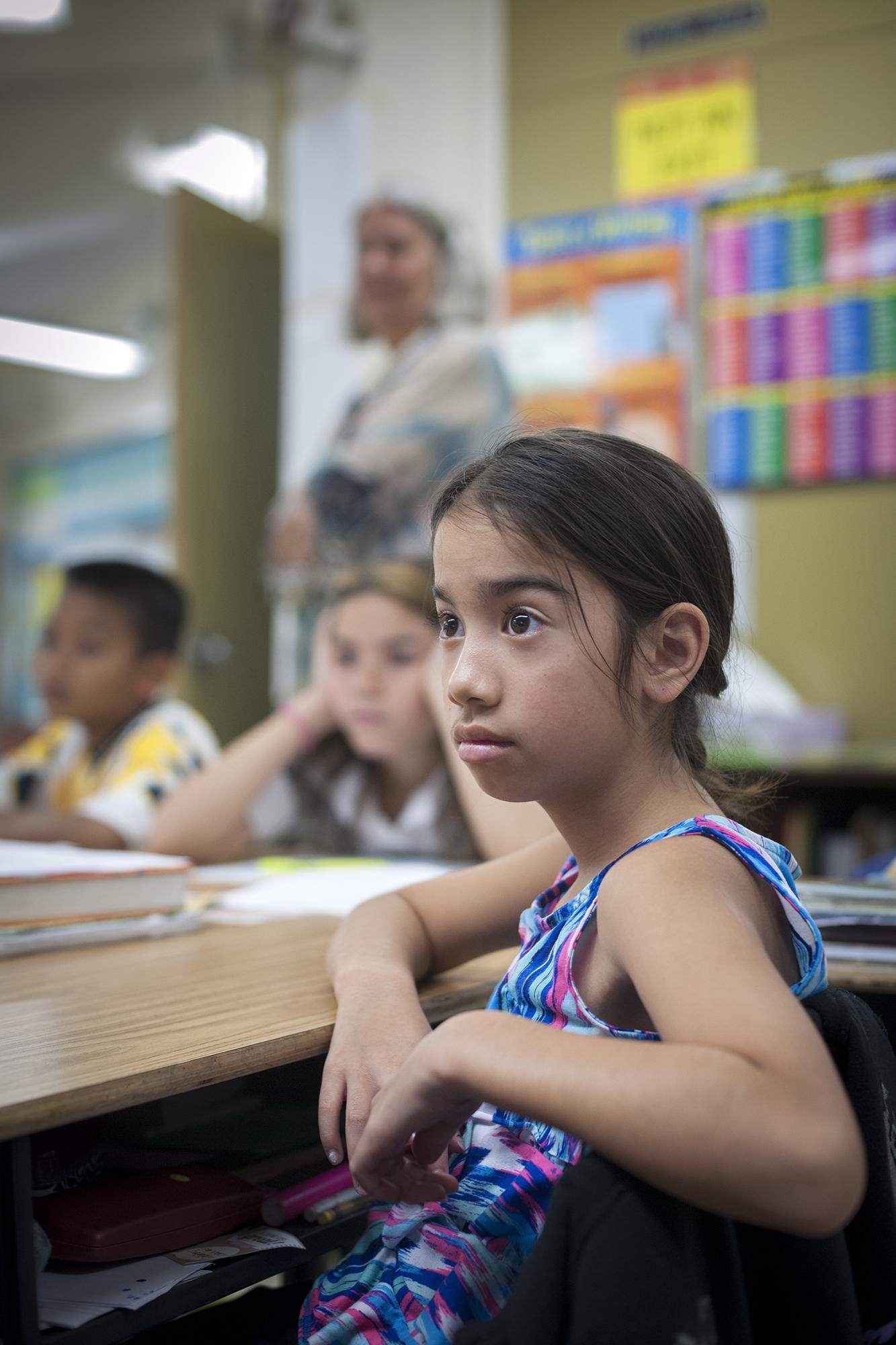 <p>A Micronesian fourth-grade student at Prince Jonah Kuhio Kalanianaole Elementary and Intermediate School on the Big Island.</p>